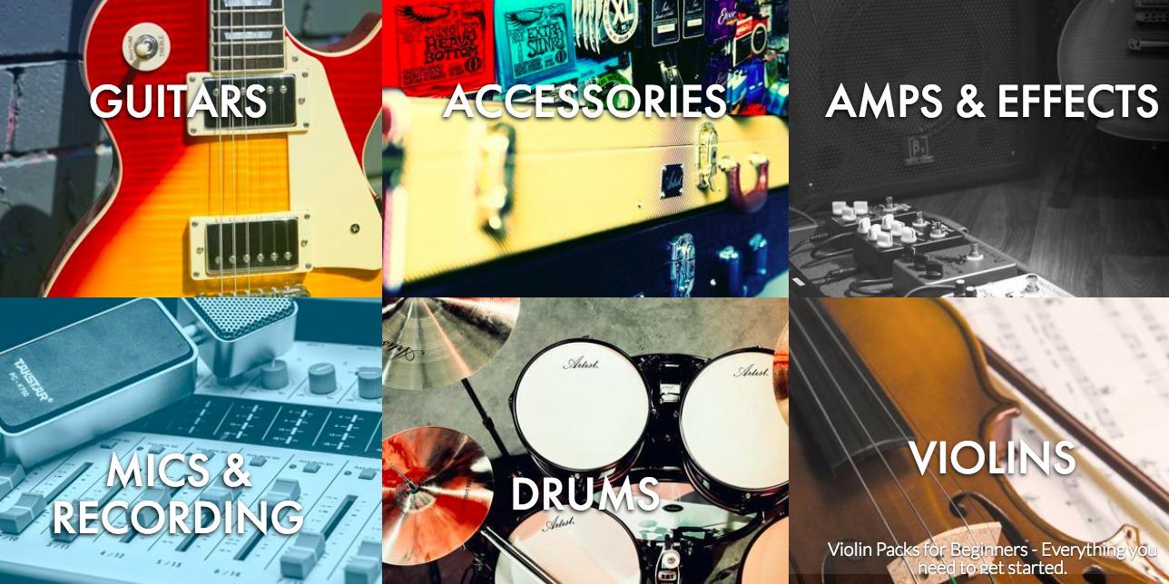 Artist guitars product range