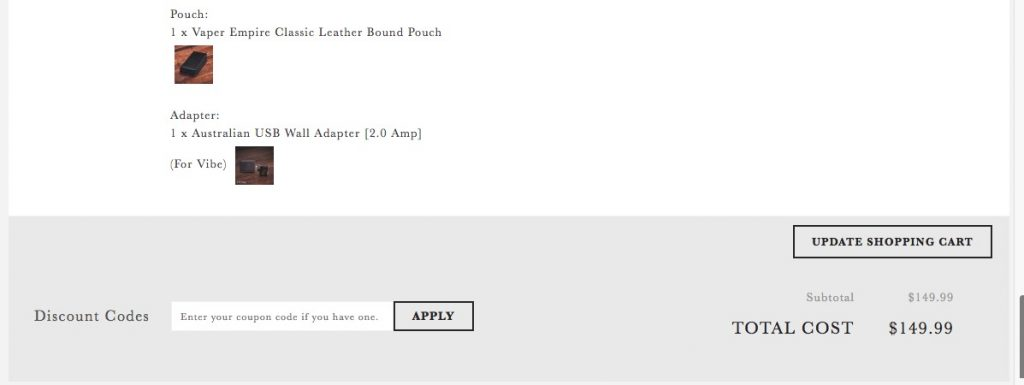 How do I use my Vaper Empire discount code