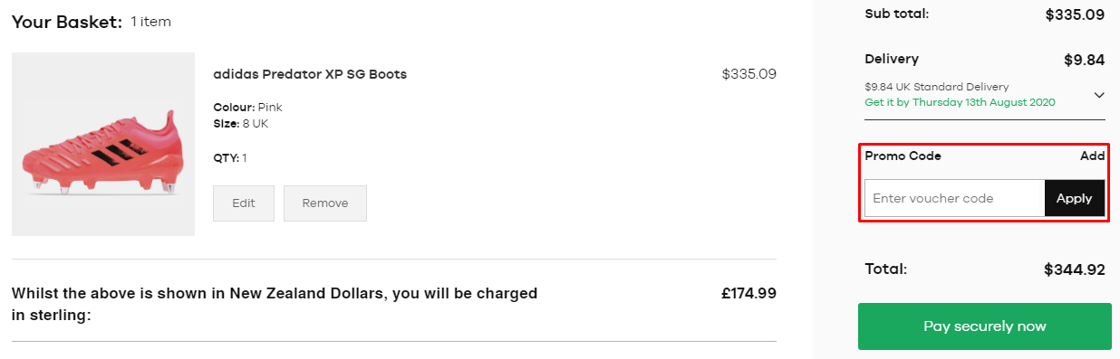 How do I use my Lovell Rugby promo code?