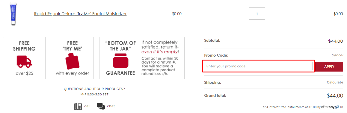 How do I use my Dermelect coupon code?