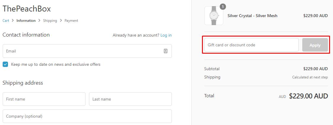 How do I use my ThePeachBox discount code?