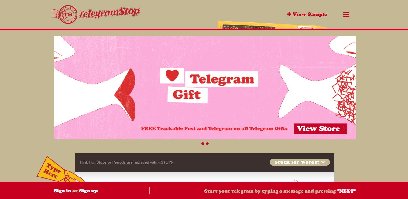 TelegramStop Homepage