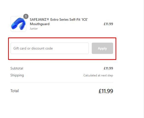 How do I use my Safe Jawz discount code?