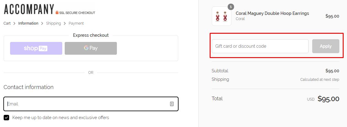 How do I use my Accompany discount code?