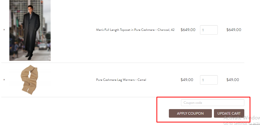 How do I use my Cashmere Boutique coupon code?