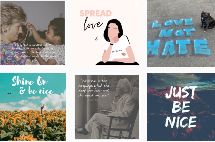 About JUST BE NICE Homepage