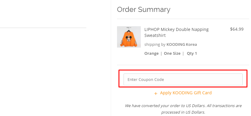 How do I use my KOODING coupon code?