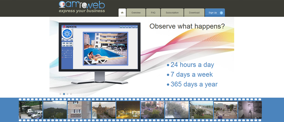 About Camtoweb Homepage