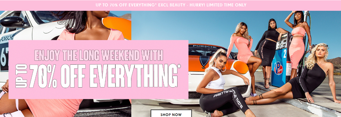 Shop Now at PrettyLittleThing