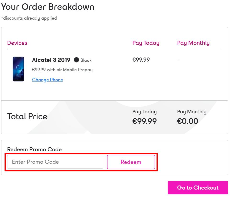 How Do I use my eir discount code?