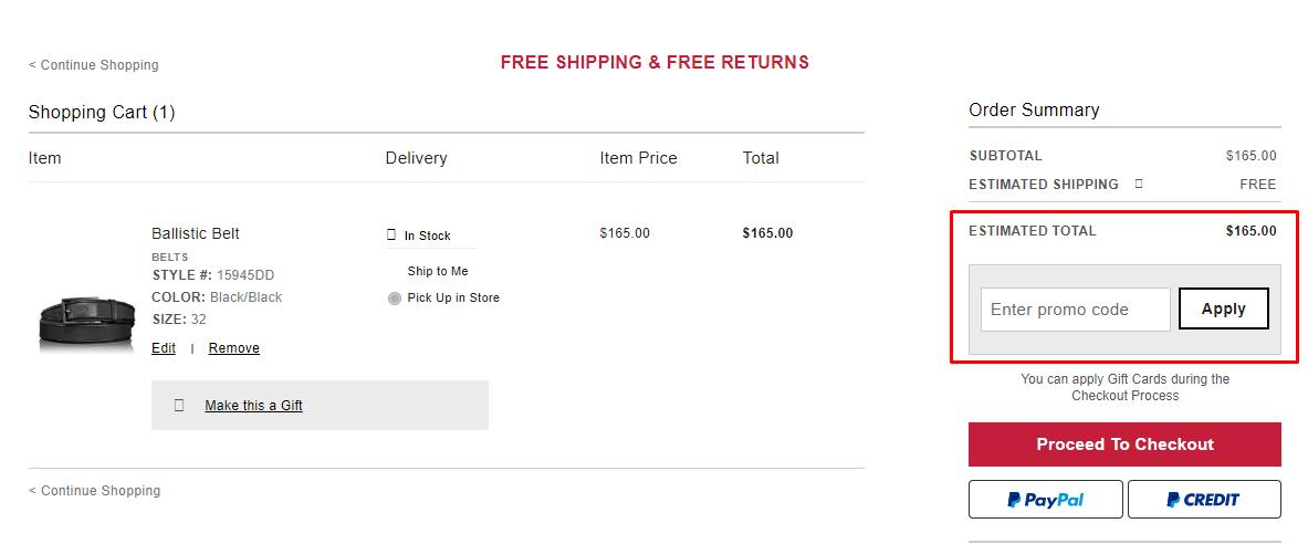 How do I use my TUMI discount code?