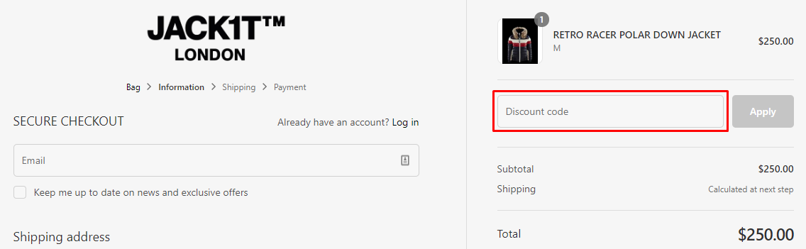 How do I use my Jack1t coupon code?