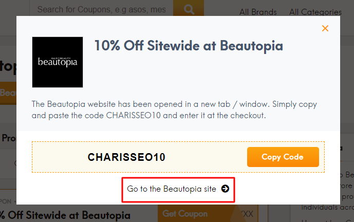 Go to Beautopia site