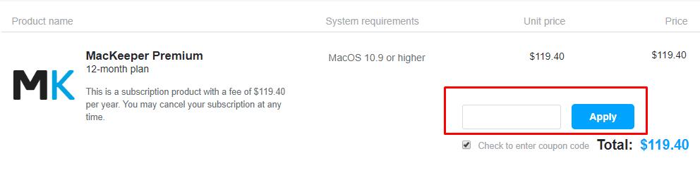 How do I use my MacKeeper discount code?