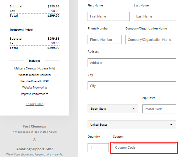 How do I use my Sucuri discount code?