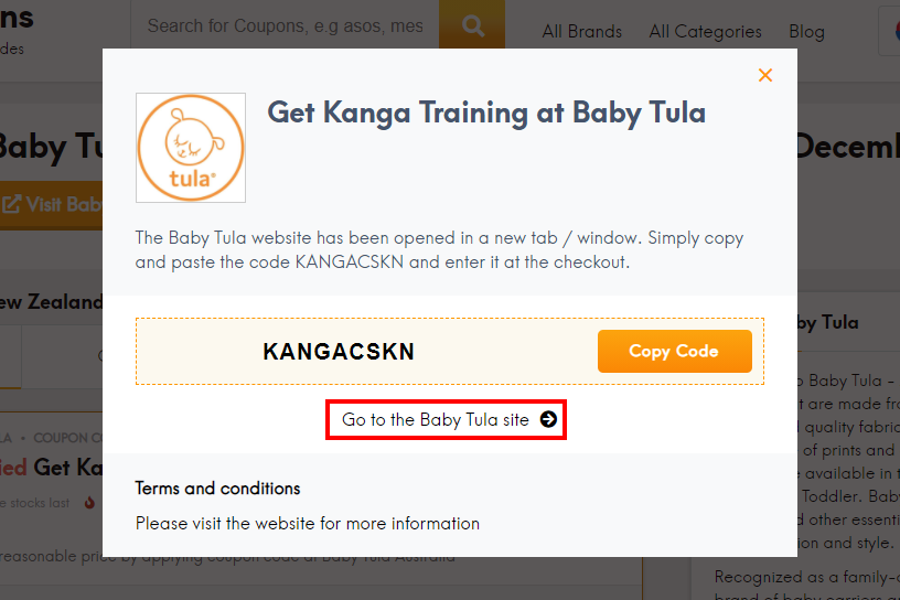 how to use Baby Tula code?
