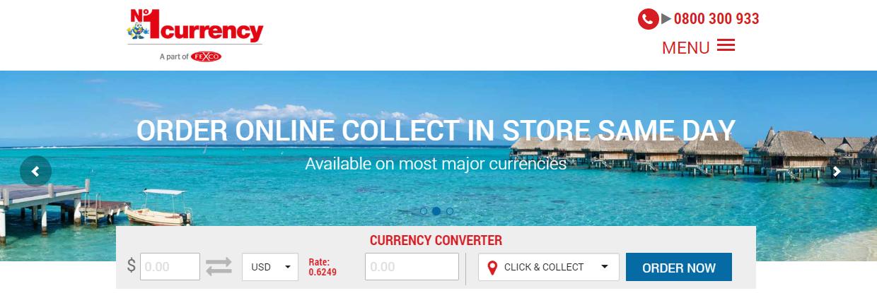 No1currency Homepage