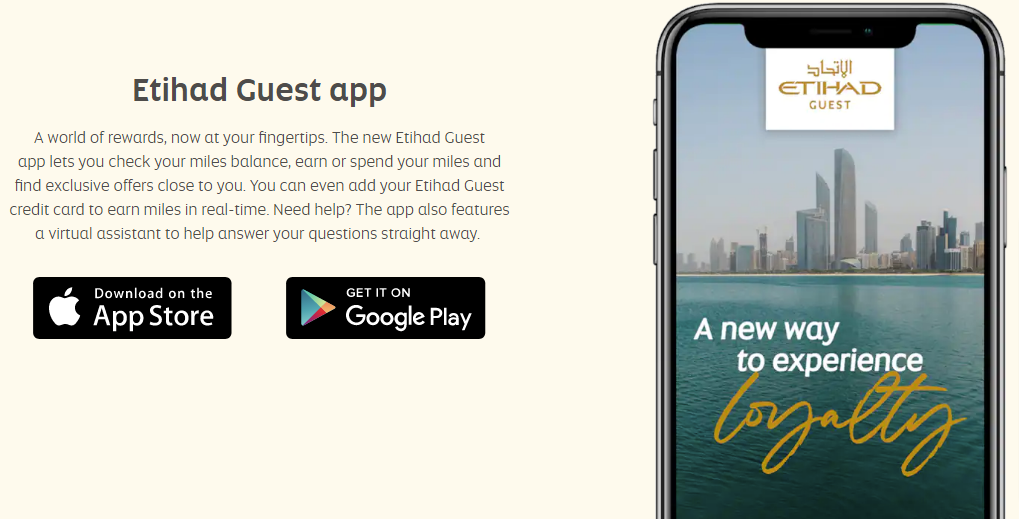 Etihad Guest Mobile app