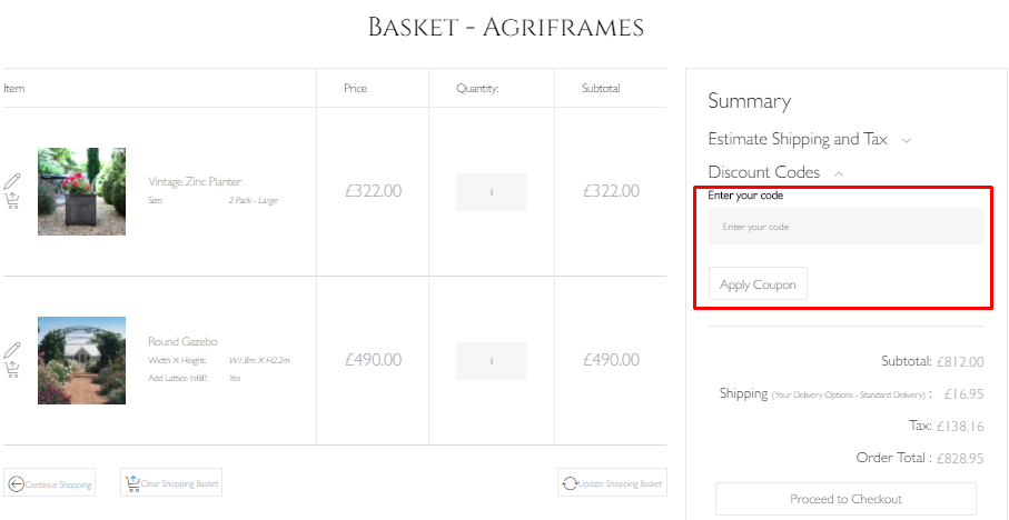 How do I use my Agriframes discount code?