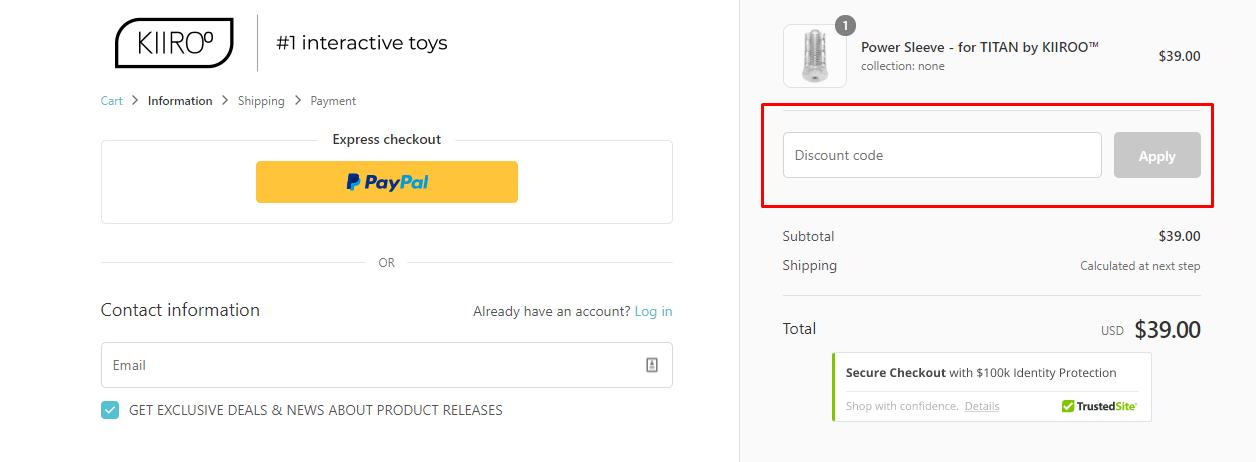 How do I use my Kiiroo discount code?