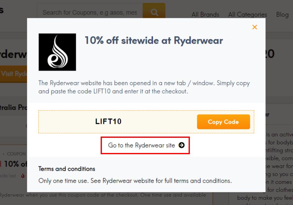 go to Ryderwear site