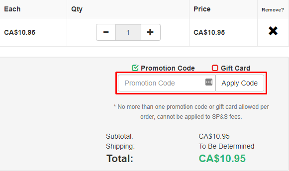 How do I use my Babsy Books promotion code?