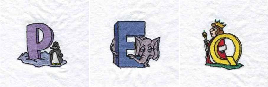 EmbroideryMachineDesigns.com Children's Alphabet