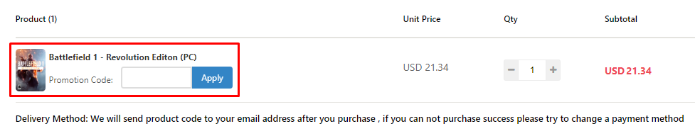 How do I use my GamesDeal coupon code?