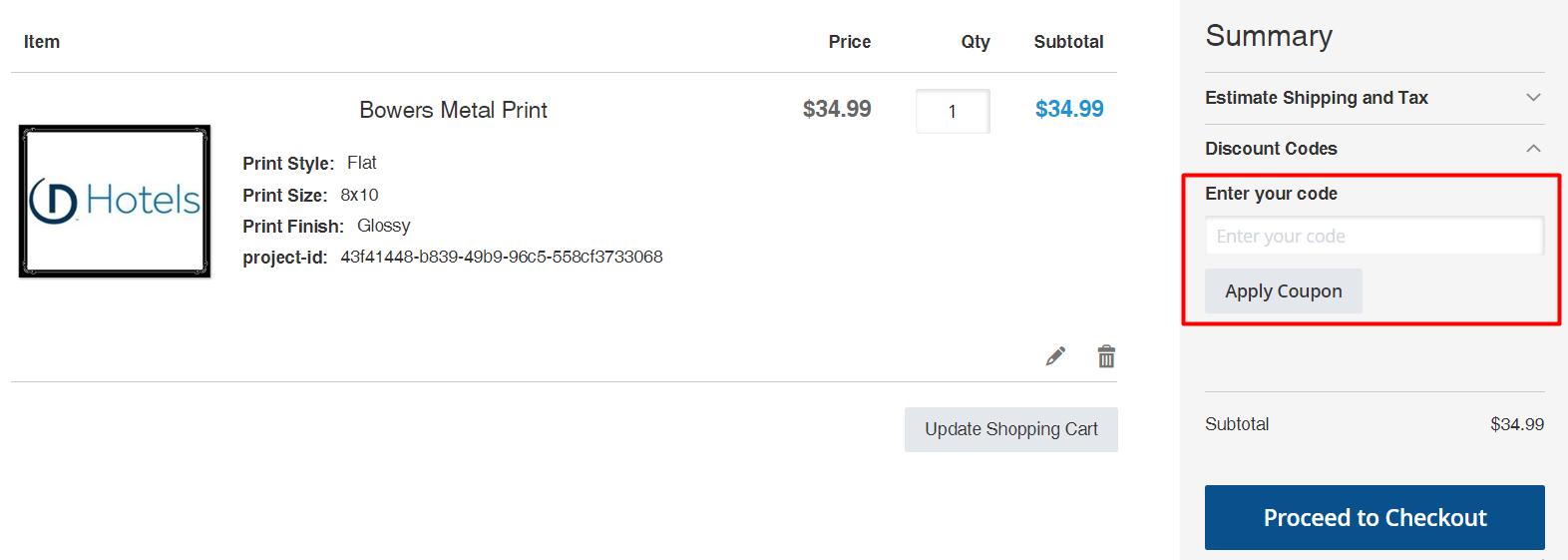 How do I use my EZ Prints discount code?
