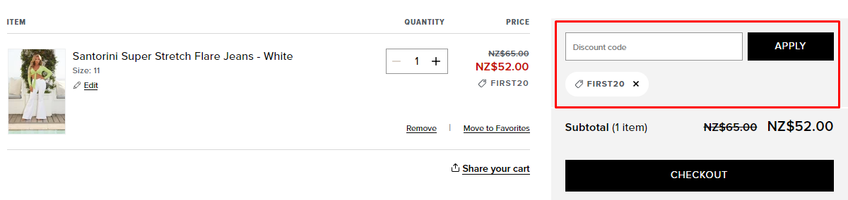 How do I use my Fashion Nova discount code?