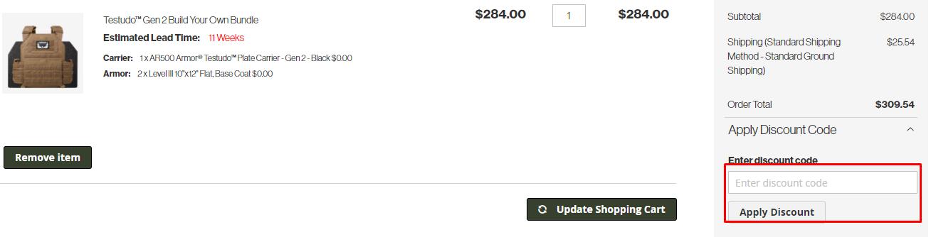 How do I use my AR500 Armor discount code?