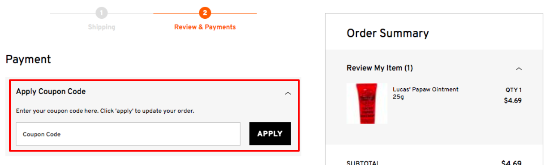 How do I use my ChemistDirect.com.au discount code?