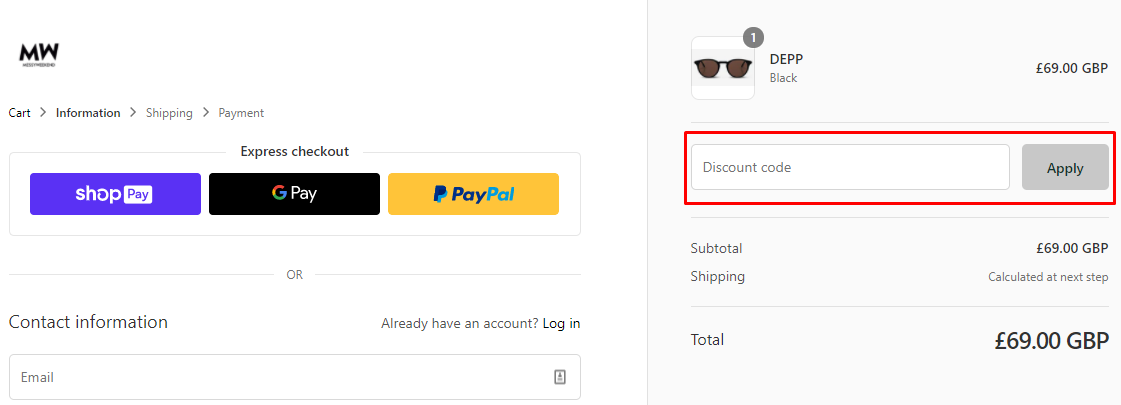 How do I use my Messy Weekend discount code?