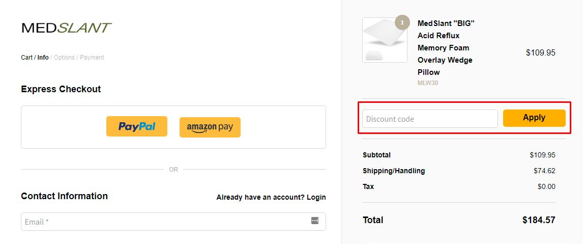 How do I use my Medslant discount code?