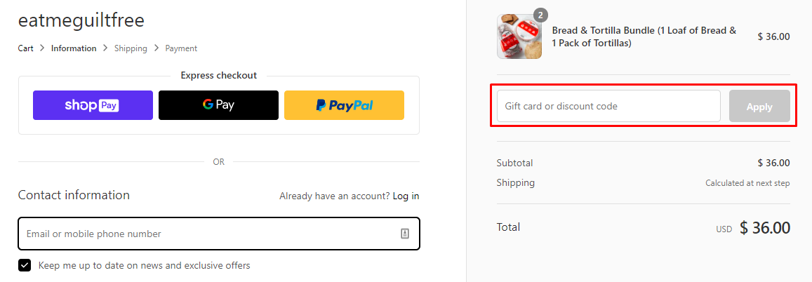 How do I use my Eat Me Guilt Free discount code?