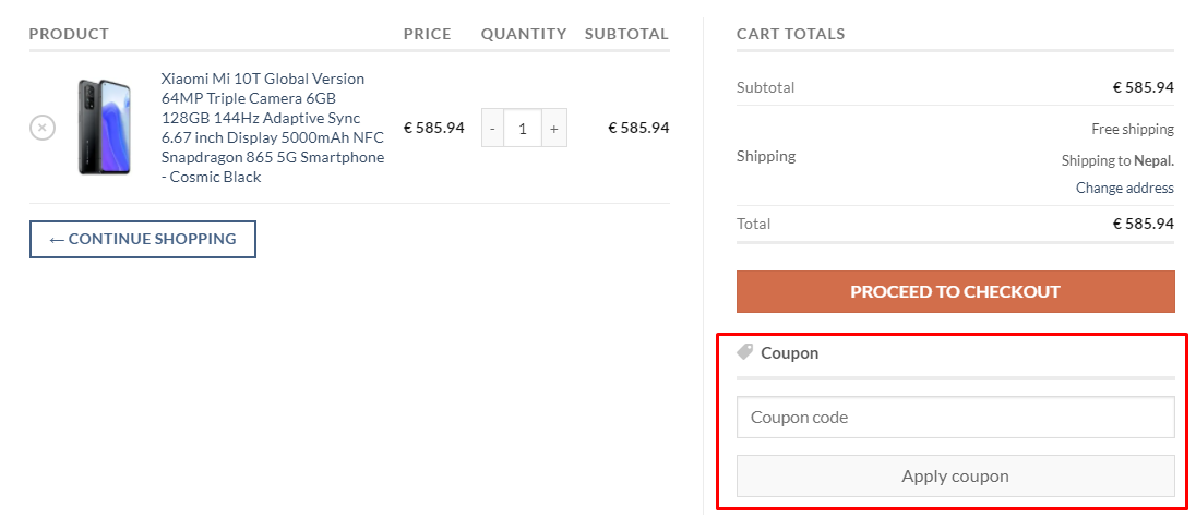 How do I use my EuDirect Shop coupon code?