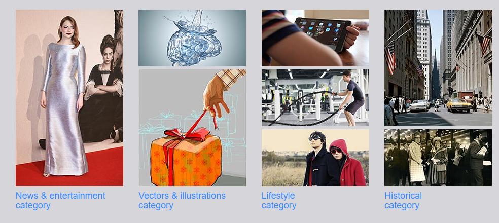 Alamy Categories