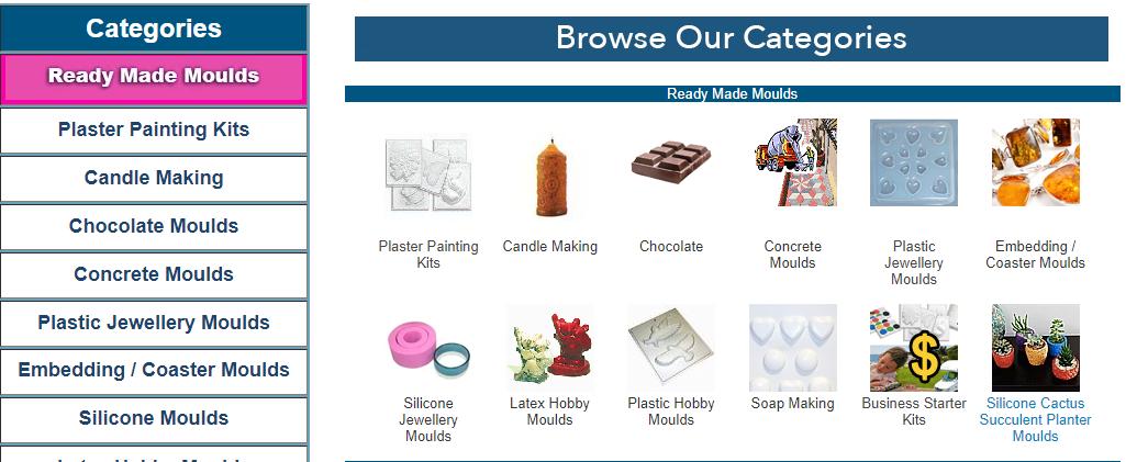 Aldax Moulds Homepage