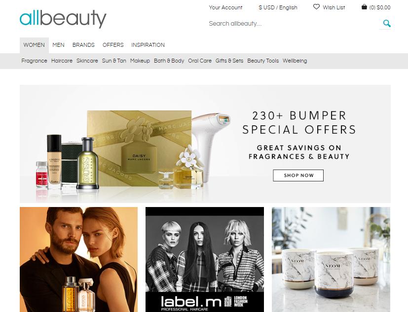 allbeauty Homepage