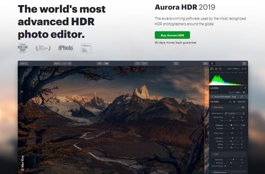 Aurora HDR Homepage