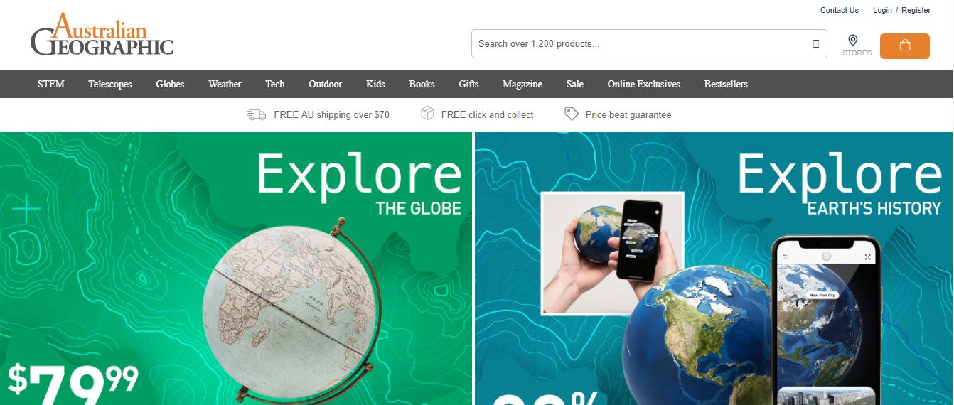 Australian Geographic Homepage