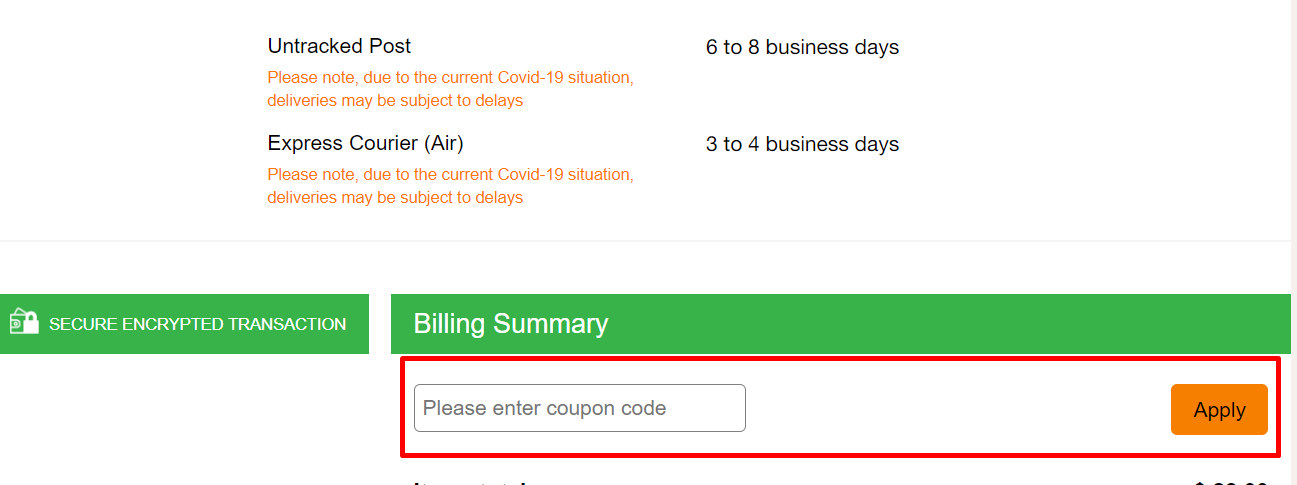 How do I use my Chemist Direct coupon code?