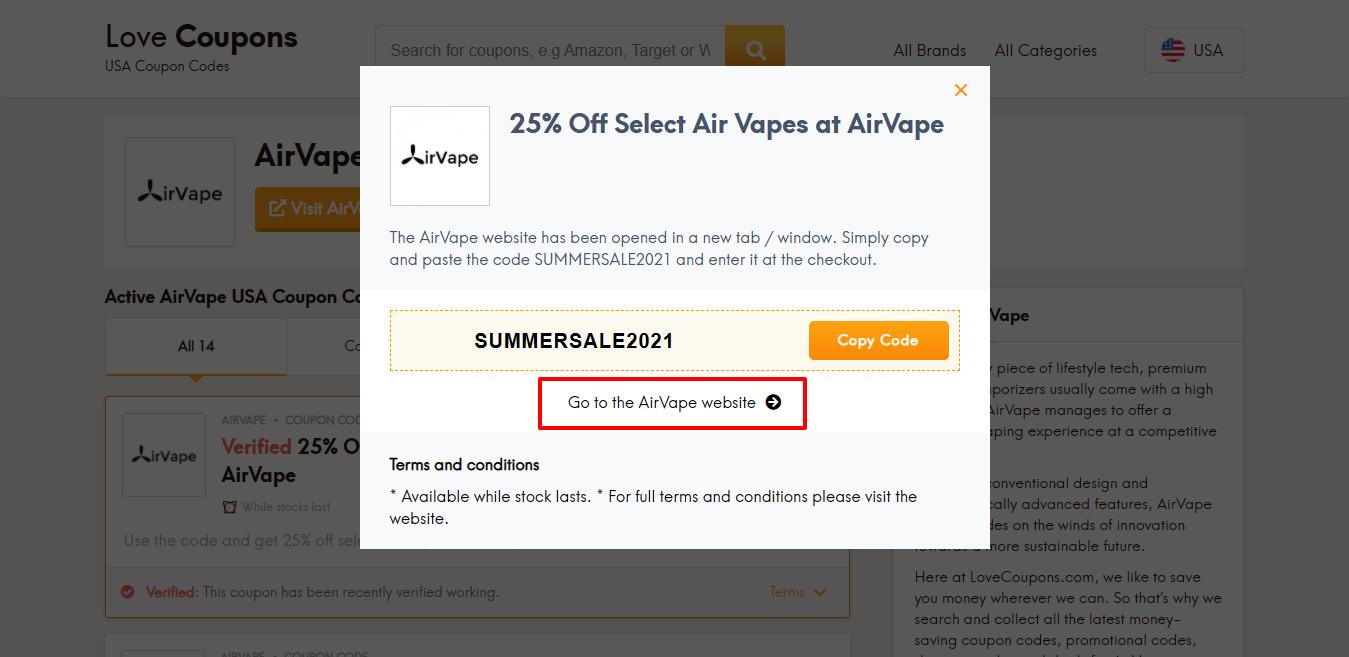 AirVape website