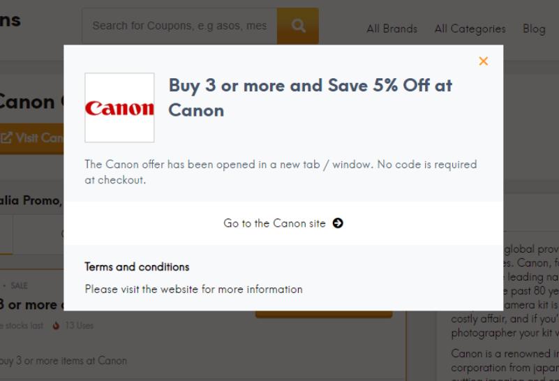 go to Canon site