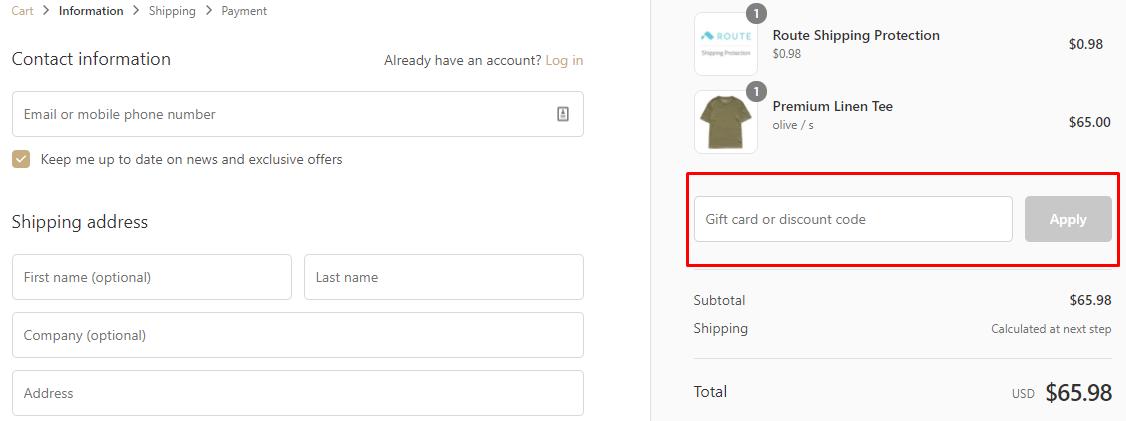 How do I use my American Trench discount code?