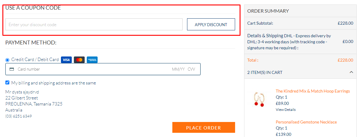 How do I use my Merci Maman coupon code?