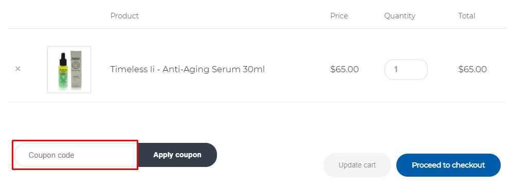 How do I use my Fountain Cosmetics coupon code?