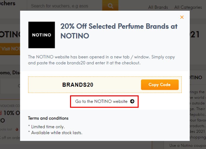 How do I use my NOTINO coupon code?