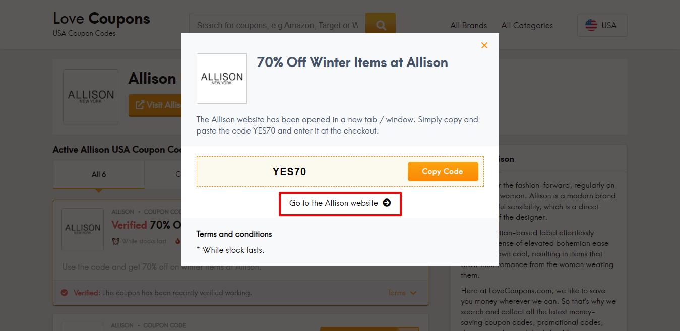 Allison website