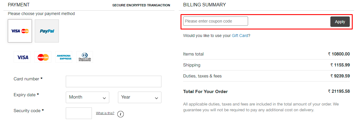 How do I use my BELLAMI coupon code?